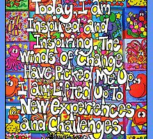 Today, I Am Inspired (iPad Case) by Sammy Nuttall