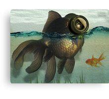 Fish eye lens Canvas Print