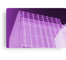 Transparent Cube Grape Canvas Print