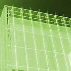 Transparent Cube Lime by artkitecture