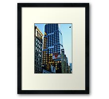 Unique building reflections - tiger, zebra and giraffe stripes Framed Print