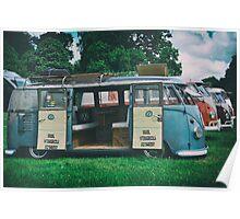VW Bus Open Door Ploicy Poster