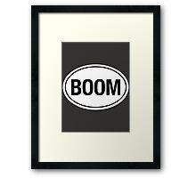 BOOM - Euro Sticker Framed Print