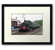 USA Class steam loco, Bodiam Framed Print