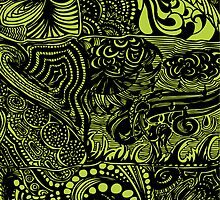 Hippy Doodle-Chartreuse by Michele Polk