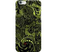 Hippy Doodle-Chartreuse iPhone Case/Skin