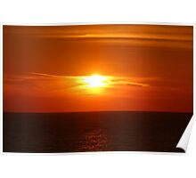Copper Sunset Poster