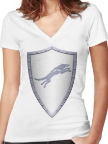Stark Shield - Clean Version Women's Fitted V-Neck T-Shirt