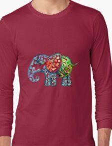 Rainbow Elephant Long Sleeve T-Shirt