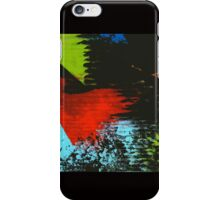 black abstract iPhone Case/Skin