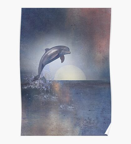 Joy Of The Leaping Dolphin Poster