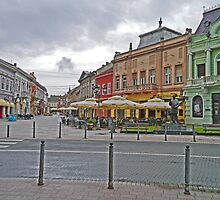 Street Scene, Novi Sad, Serbia by Margaret  Hyde