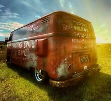 VW van and sunrays by UKGh0sT