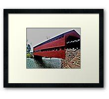 Sachs Covered Bridge, Adams County, PA Framed Print