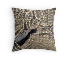 Rock Under The Waves Throw Pillow