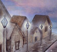 Village In The Twilight by Carien