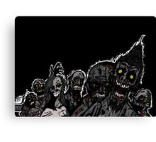 Zombies are coming! Canvas Print