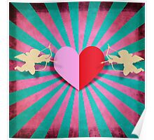 Heart and cupids Poster