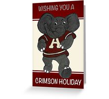 Roll Tide Christmas University of Ala Greeting Card