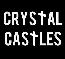 crystal castles white text with cross by ultratrash