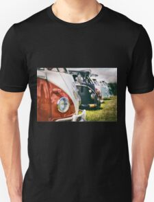 VW buses on display Unisex T-Shirt
