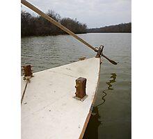 Keel Boat Rudder Oar Photographic Print
