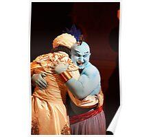 Aladdin and Genie Love Poster