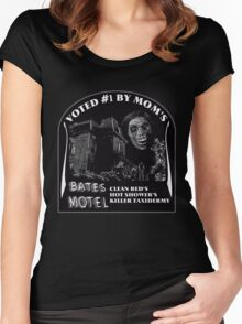 Bates Motel is my mom's choice Women's Fitted Scoop T-Shirt