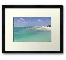 Sorobon Beach and Lagoon, Bonaire Framed Print