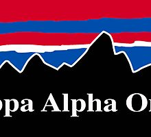 Kappa Alpha Order Red White and Blue by AdventureFinder