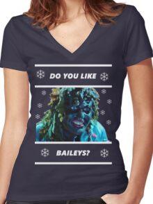 Do you like Baileys? - Old Gregg Women's Fitted V-Neck T-Shirt