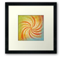 grunge ray Framed Print