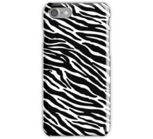 zebra black/white pattern iPhone Case/Skin