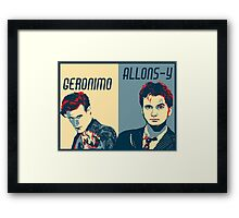 10th and 11th Doctor Framed Print