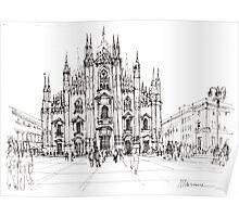 Duomo di Milano - schizzo Poster