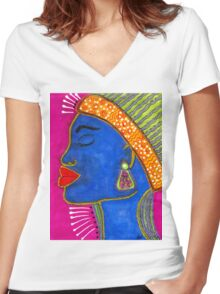 Color Me VIBRANT Women's Fitted V-Neck T-Shirt