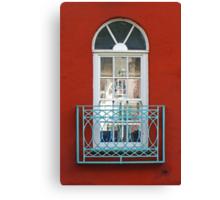 Turquoise Balcony Canvas Print