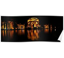 the Palace of Fine Arts at Night Poster