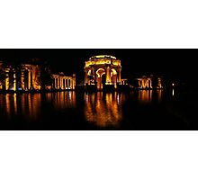 the Palace of Fine Arts at Night Photographic Print