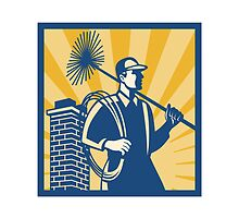 Chimney Sweeper Cleaner Worker Retro by retrovectors
