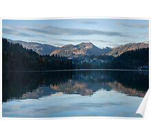 Sunset over Lake Bled Poster
