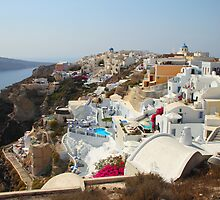 Overview of Oia, Santorini by Carole-Anne