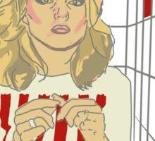 Debbie with coloured blocks Sticker