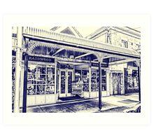 Chemist shop in Braidwood 1 Art Print