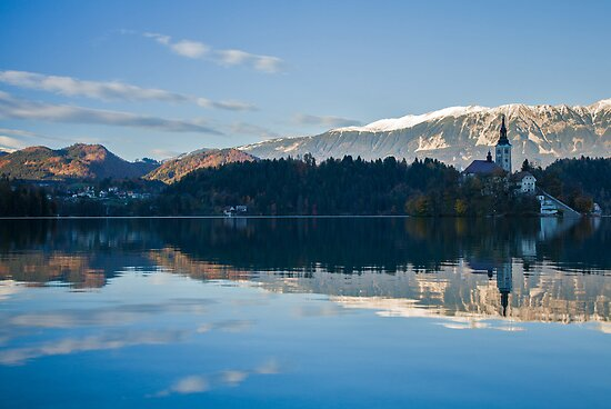Evening at Lake Bled by Ian Middleton
