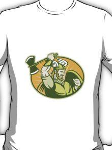Viking Raider Barbarian Warrior Retro  T-Shirt