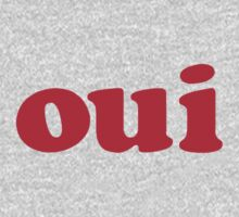 oui - red Baby Tee