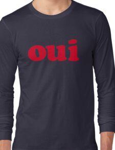 oui - red Long Sleeve T-Shirt