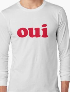 oui - red Long Sleeve T-Shirt