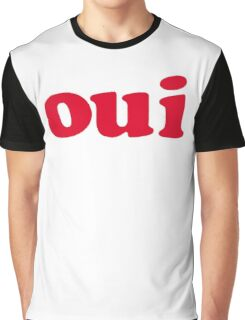 oui - red Graphic T-Shirt